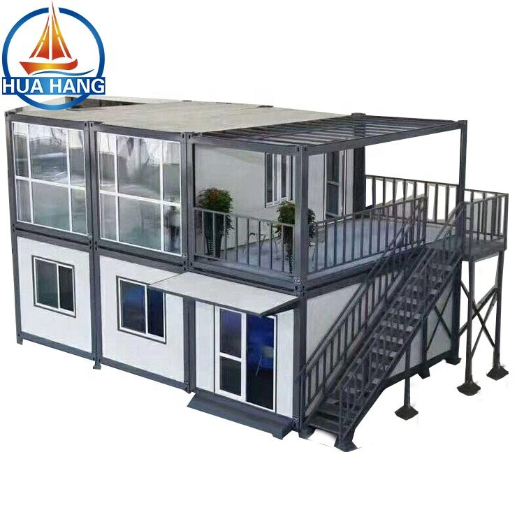 wholesale 40 feet 2 storey apartment building prefab shipping container homes