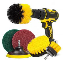 6 Pcs Drill Brush Attachment Power Scrubber Set for Cleaning Bathroom Surfaces