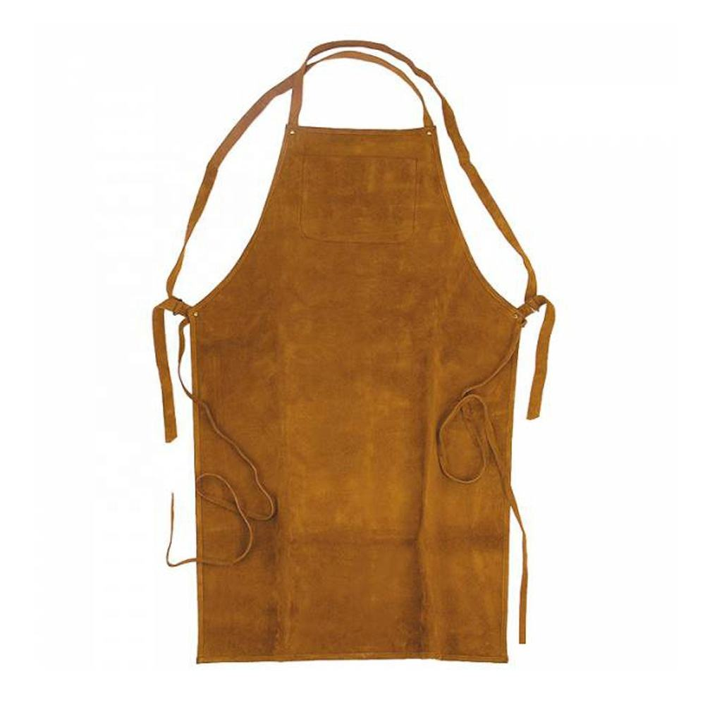 Cheap New Style Welding Apron Leather Personal Body Protective Apron With Leather Belt