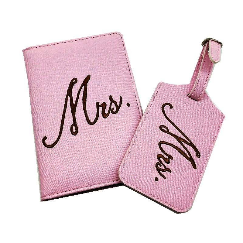 Wholesale personalized travel saffiano wallet leather gift set luggage tag passport holder