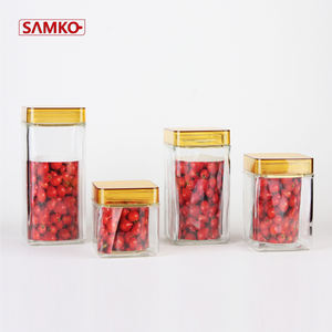 Kedap Udara Food Jar Wadah Kaca Storage Jar Set