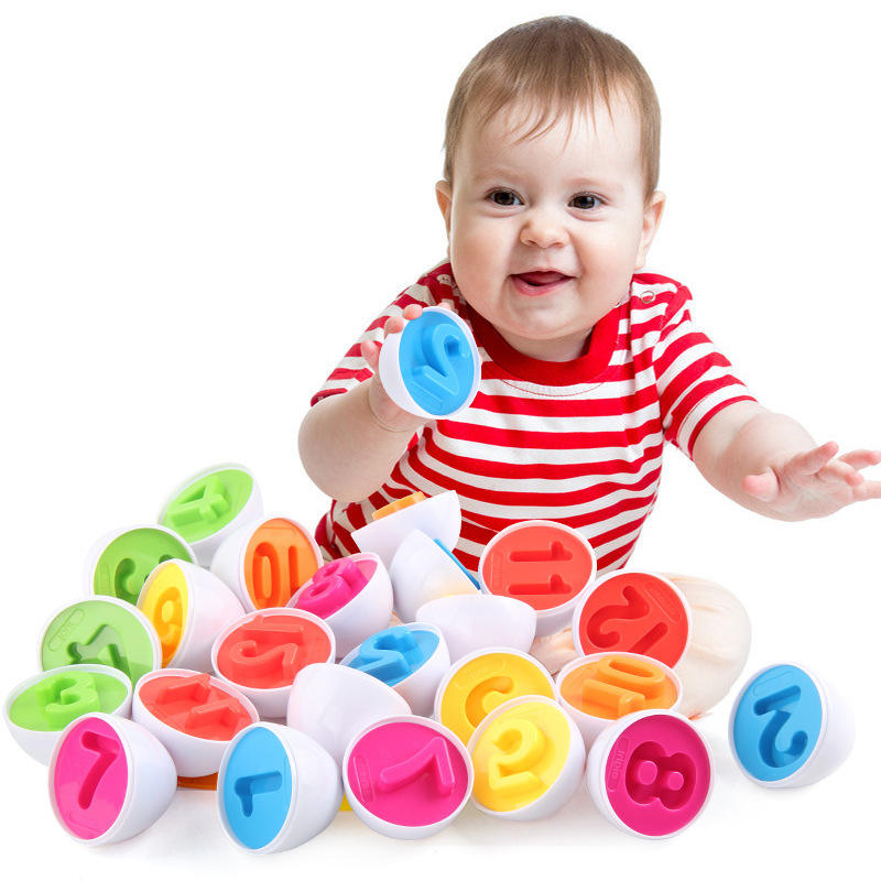 2021 Amazon Hot Selling Toddler Toys 12pcs Easter Eggs Box Gifts Sensory Learning Fine Motor Skills Toys For kid