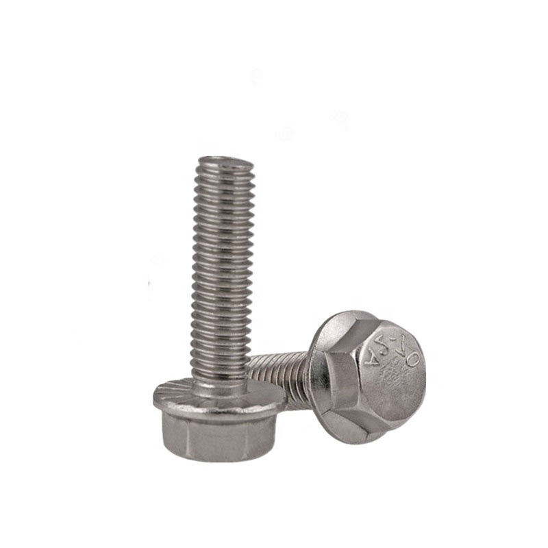 M8*1.25 Pitch SS304 Stainless Steel Hex Head Flange Bolt 10.9