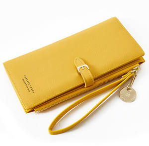 Pierre Loues Hot Selling Long Card Holder Long Zipper Minimalist Women Wallet For Shopping