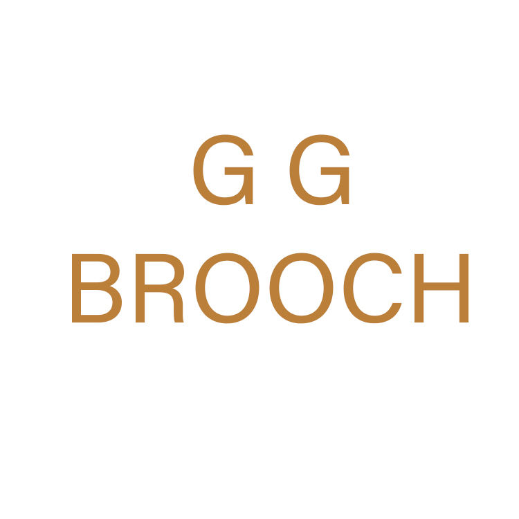 Concepteur Broches Et Broches Broches Or Double G Modélisation Transparent Strass Broche Musulmane
