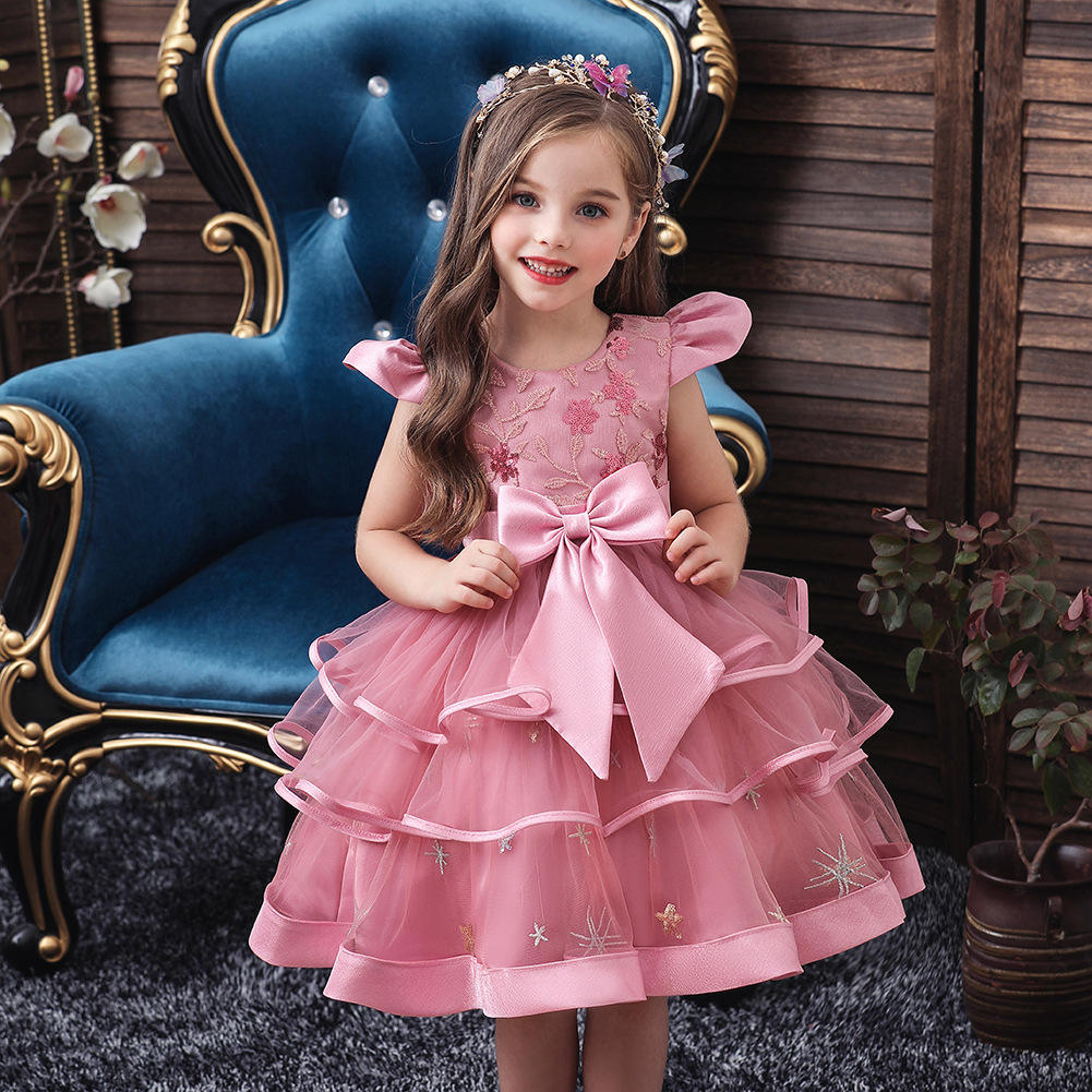 Summer Infant Dress Baby Christmas Newborn Sequin Bowknot Red Black Party Princess Dresses For Baby Girl 1st Year Birthday Dress