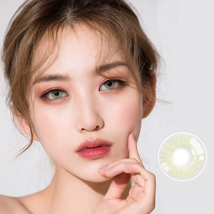 Realkoko KL-71 yearly natural doll eyes contact lenses colored rainbow contact lens private label soft eye lenses