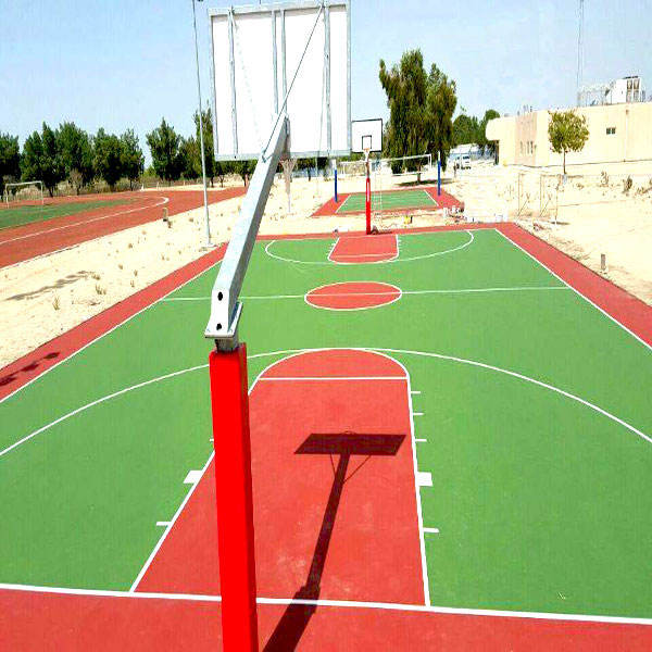 all weather used outdoor basketball court flooring,rubber granules surfacing FN-AY-20040318