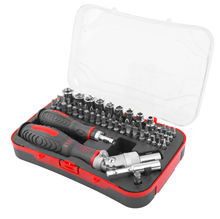61pc Household Precision Ratchet Socket Screwdriver Tool Kit Set