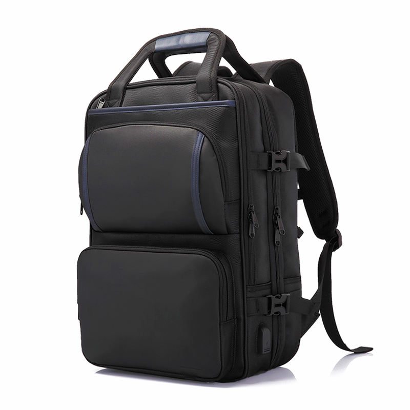Custom good quality business laptop usb backpack 1680D polyester european popular design backpack
