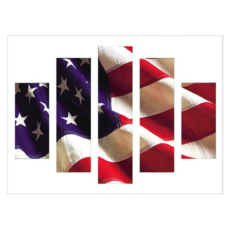 Wholesale high quality round diamond painting American flag canvas art decoration home decoration factory supplier