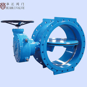 Roda Tangan Wafer Actuator Double Flanged Butterfly Valve