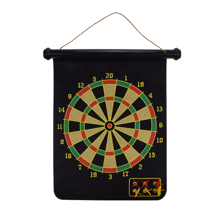 ActEarlier Custom Logo 12inches/15inches/17inches Magnetic Dart Board With 6 Darts