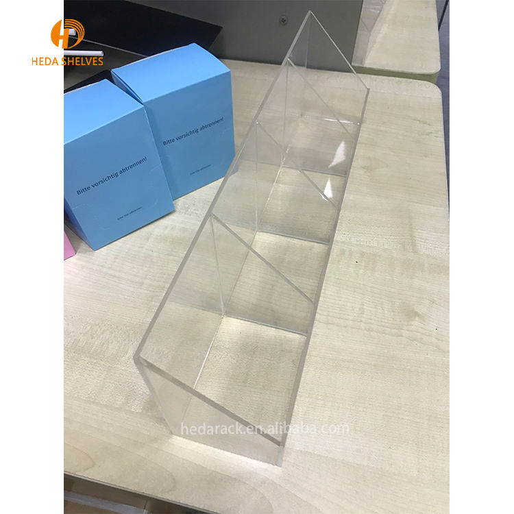 Factory Direct Sell Premium Quality Makeup Acrylic Transparent Nail Polish Display Shelf Cosmetic Rack
