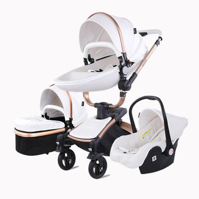 Chinese luxury baby stroller supplier directly sale 3 in 1 high view baby pram carrier