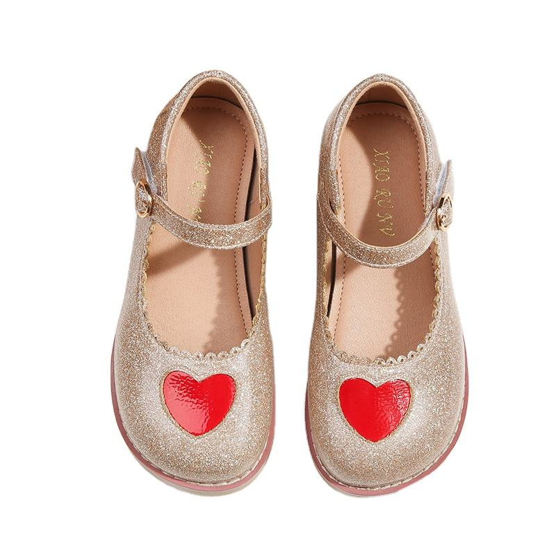 atural rubber sole single sole new spring and autumn children's leather shoes Mary Jane women's shoes