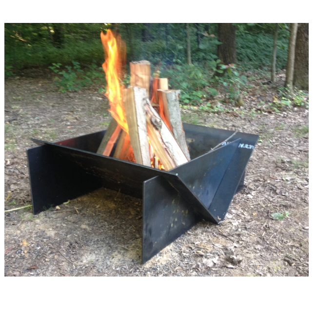Suitable size Personalized Metal Fire Pit 24''* 24''*22'' Fire Pit BBQ Fit