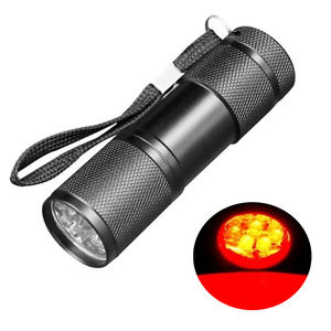 9 LED Red Light Flashlight Portable Mini 625nm Red Light Torch for plant growth red light torch
