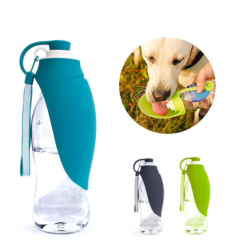 Lightweight Travel Pet Water Dispenser Leaf Feeding Bottle For Puppy