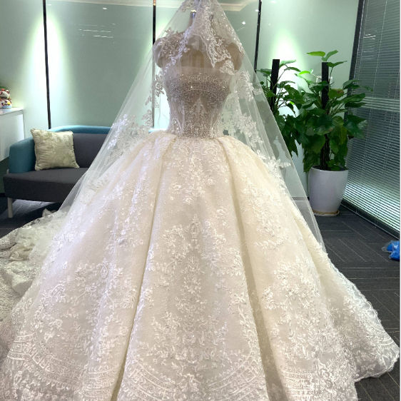New Products Traditional Style Brand Design luxury beading lace Wedding Dress wedding gowns