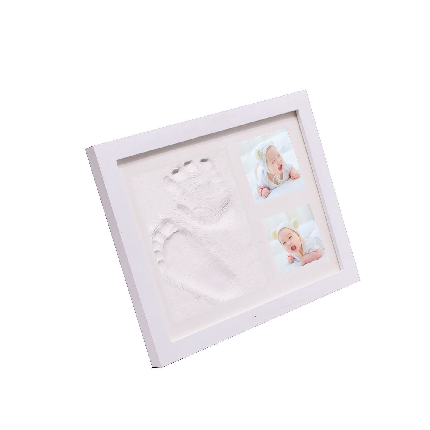 23*28cm baby handprint and footprint clay newborn baby photo frame for kids gift