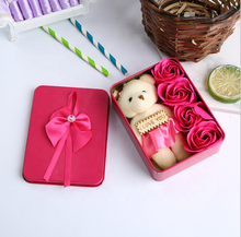 Valentine's day gift wholesale three soap rose gift box new four handmade DIY eternal flower gift