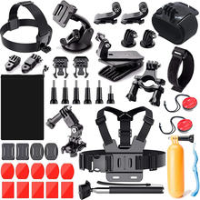 Action Camera Accessories Kit for Gopro Hero 9 8 7 6 5 4 3 Sports Accessories Kit set for AKASO Xiaomi Yi 4K Black Silver