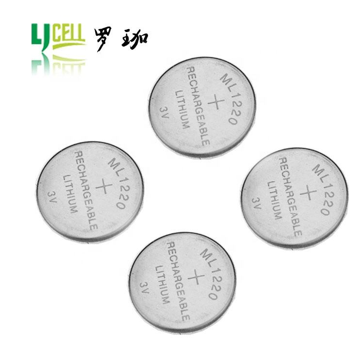 Coin Cell Lithium ML1220 Smallest 3V Rechargeable Battery