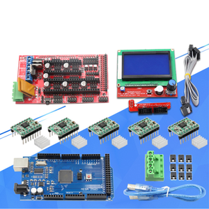 Smart Electronics 3d Printer Bagian Diy Papan Utama Kit MEGA2560 + LCD Kontrol Sirkuit Papan
