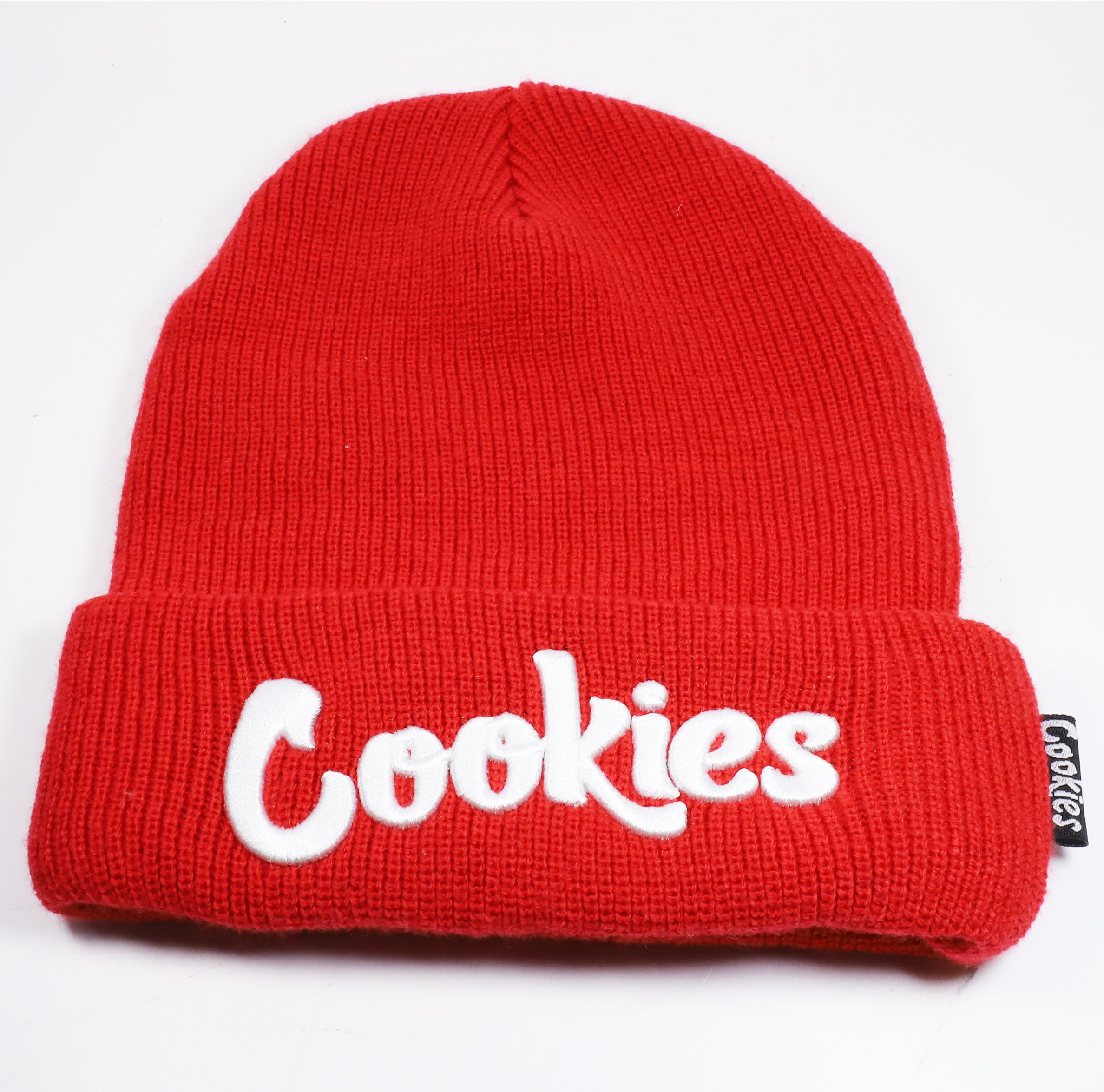 Custom High Quality Red Acrylic Beanie With Embroidery Logo Knit Beanie Hat