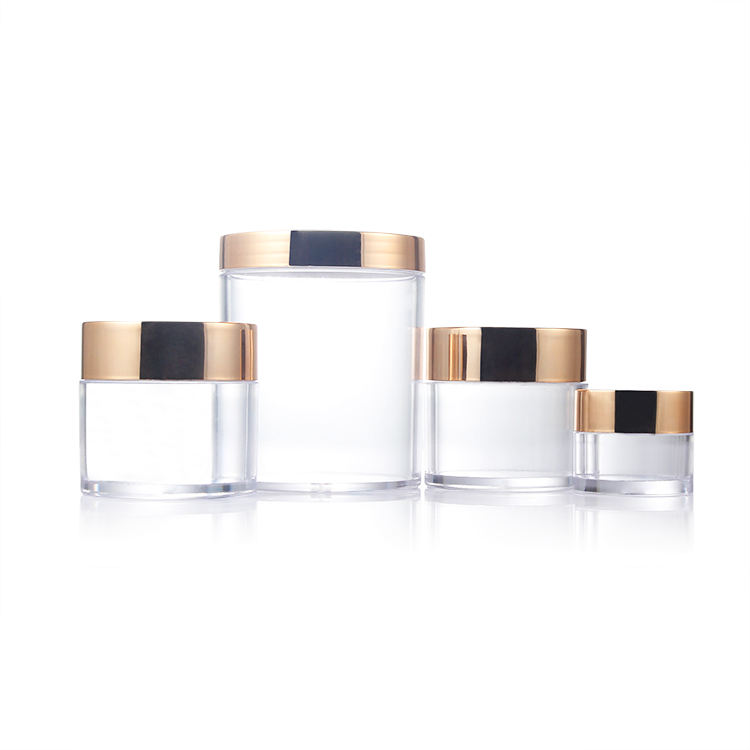 1oz 2oz 4oz 16oz plastic face cream jar eco friendly cosmetics packaging plastic cosmetic cream jar body lotion containers
