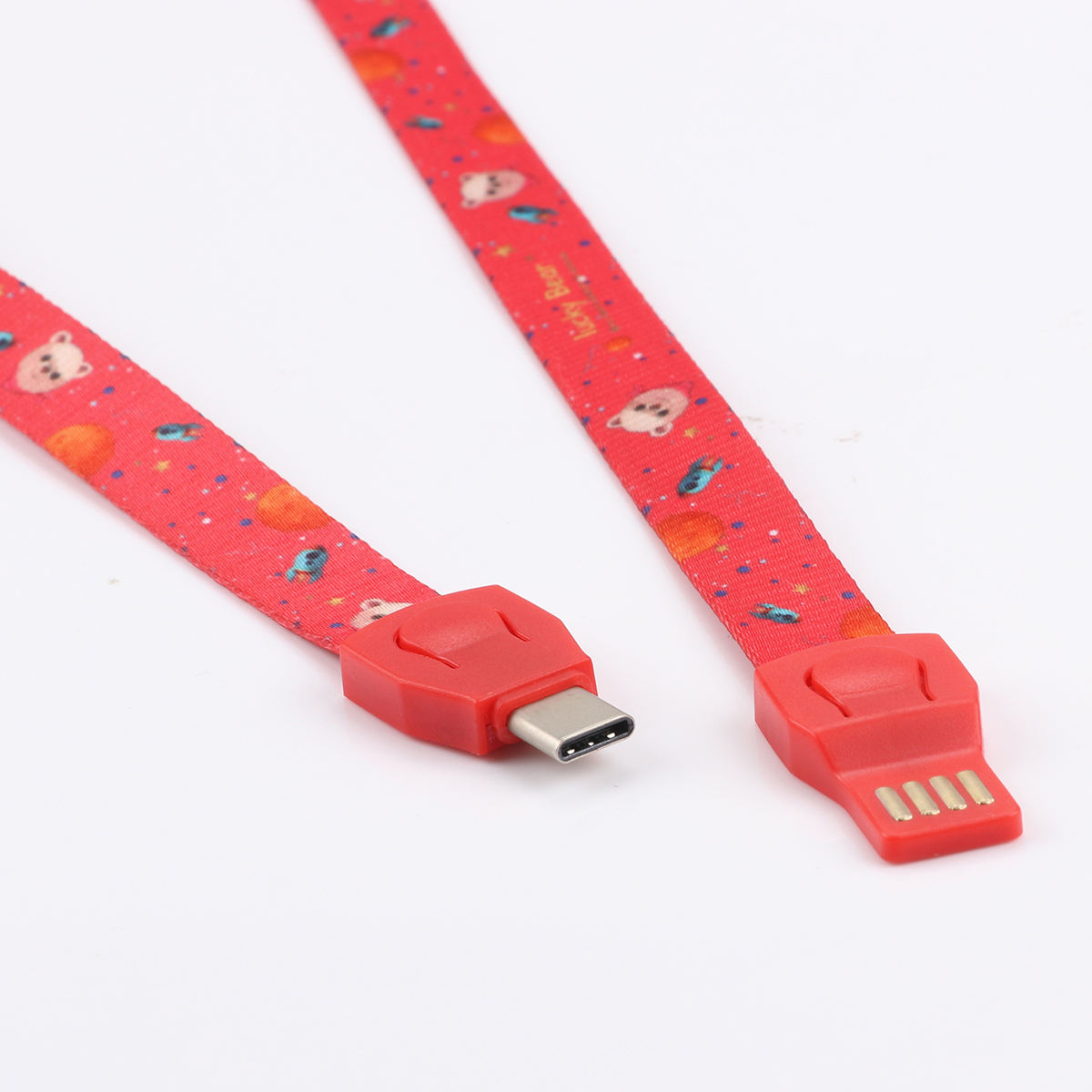 New Promotional Gift Items OEM Lanyard Keychain Usb Charging Data Cable For Micro Usb 8pin Type C Mobil Phone