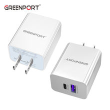 2021 new Wholesale On stock PD 20w super charge dual port usb wall charger type c  fast charging qc 3.0 usb c pd charger adapter