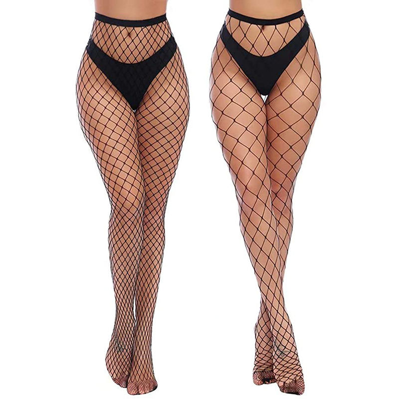 Mature Womens high heels High Waist Tights Fishnet Stockings Thigh High Pantyhose foot sexy fish net silk stockings