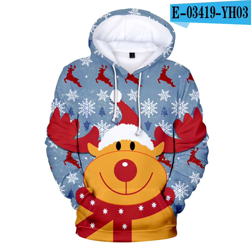 customized 2020 Christmas Hoodies 3D Sweatshirt Happy Christmas Party Trendy Popular Men/Women Autumn Winter Casual Polluvers ec