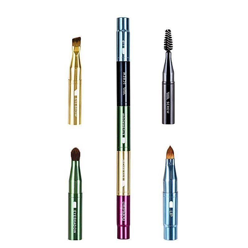 New Arrival 4 in 1 Multipurpose Multicolor Make up Cosmetic Makeup Brushes- EYEBROW, eye shadow,Mascara& Lip Brush