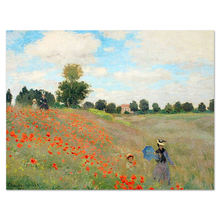 Famous Impressionist Poppies Scenery Claude Oscar Monet Modern Art Painting
