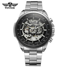 New Hot Winner 258 Mens Watches Military Sport Male Top Brand Luxury Skeleton Clocks Automatic Mechanical Steel Watch