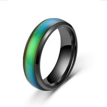 Changing Color Rings Emotion Mood Rings Thermochromic Stainless Steel Temperature Rings For Women Men