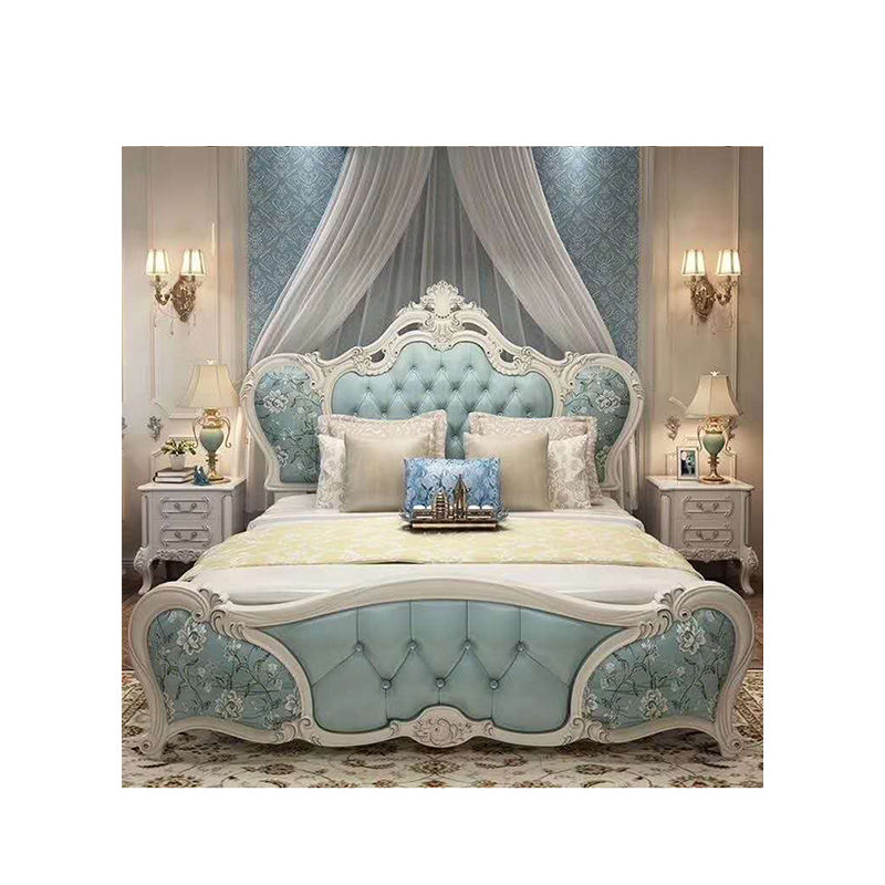 European King Size Beds Bedroom Furniture Solid Wood Bedroom Sets