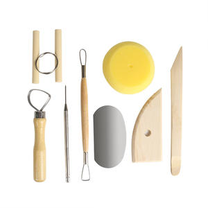 Pottery Tool kit Wood Handle Clay Modeling tool