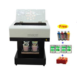 2019 new 4cups coffee printer 3d printing cappuccino latte can print any photo selfie art for cafe restaurant