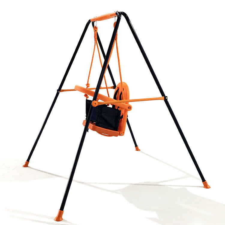 New Baby Swing With Canopy Safe And Reliable Colorful Hot Selling Metal Swing Set For Kids Funny