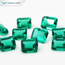 Wholesale Popular Jewelry Loose Gemstone similar nature Synthetic Emerald 1ct-15ct