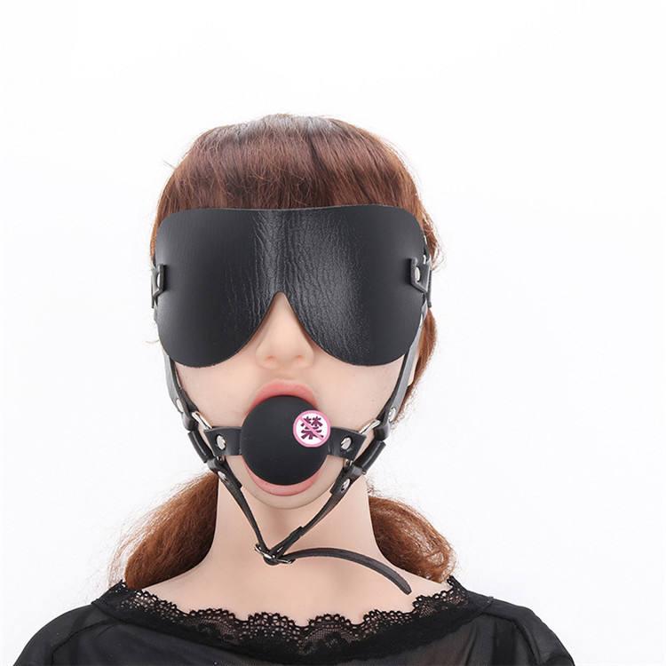 PoeticExst yetişkin seks oyuncakları silikon ağız topu fiş esaret dişli seti topu Gag koşum