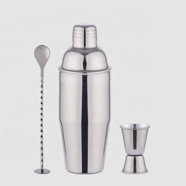 Factory Direct 700ml stainless steel shaker bar tool set customizable cocktail mixer