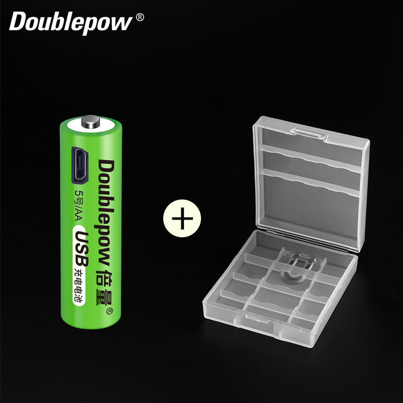 Doublepow intelligente 1.2v 1500mWh ricaricabile nimh <span class=keywords><strong>aa</strong></span> USB cellula <span class=keywords><strong>di</strong></span> <span class=keywords><strong>batteria</strong></span> con la <span class=keywords><strong>batteria</strong></span> della <span class=keywords><strong>cassa</strong></span> della scatola