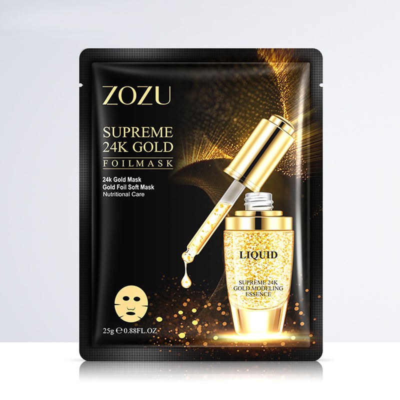 Wholesale OEM ODM ZOZU Anti Aging Face Sheet 24k Gold Collagen organic sheet mask