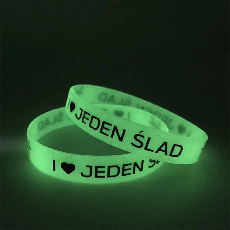 customized glow in the dark wristbands /fluorescent bracelets/Luminous silicone bracelets