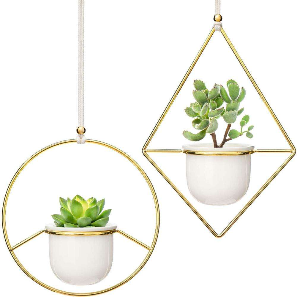 Indoor And Outdoor Metal Pot Racks Balcony Plant Stands Hanging Flower Pot